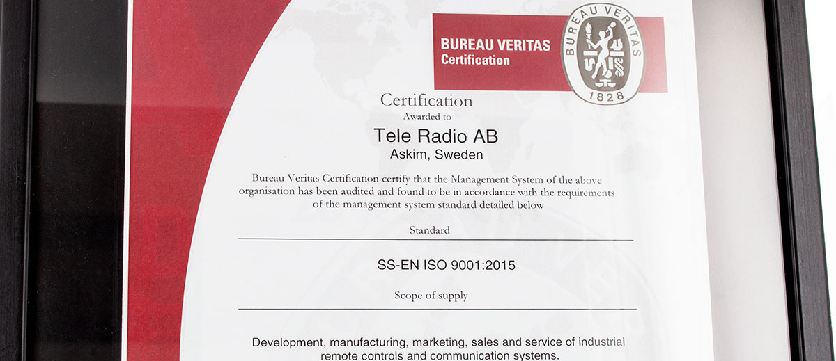 ISO9001 Tele Radio