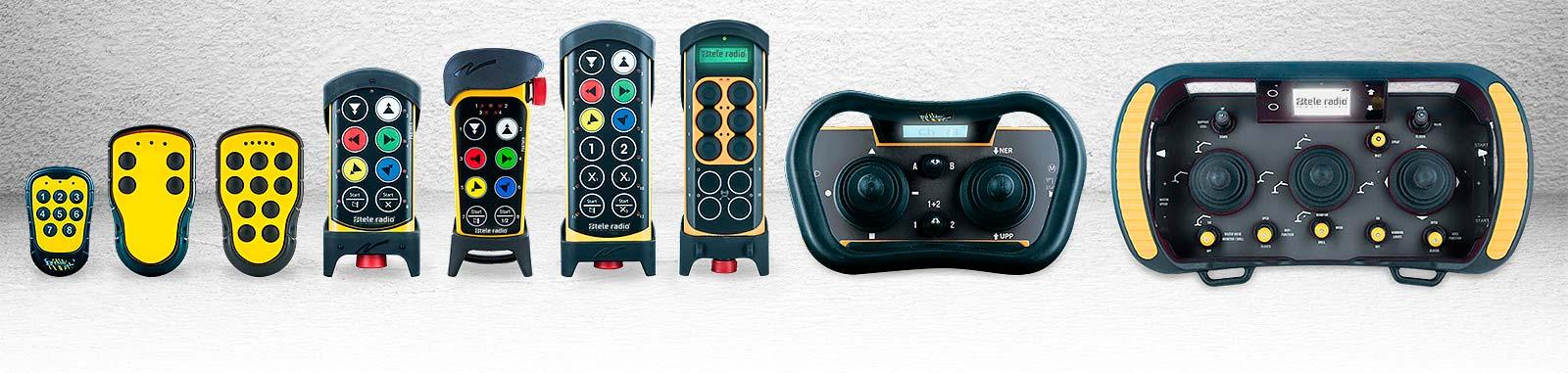 linea de controles remotos tele radio con mandos joystick