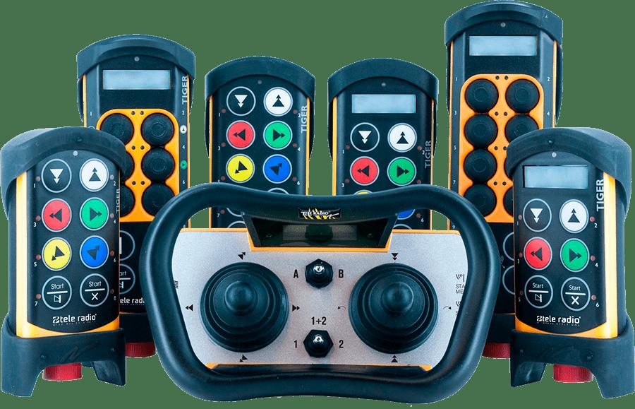 System sterowania radiowego do suwnic i dźwigów